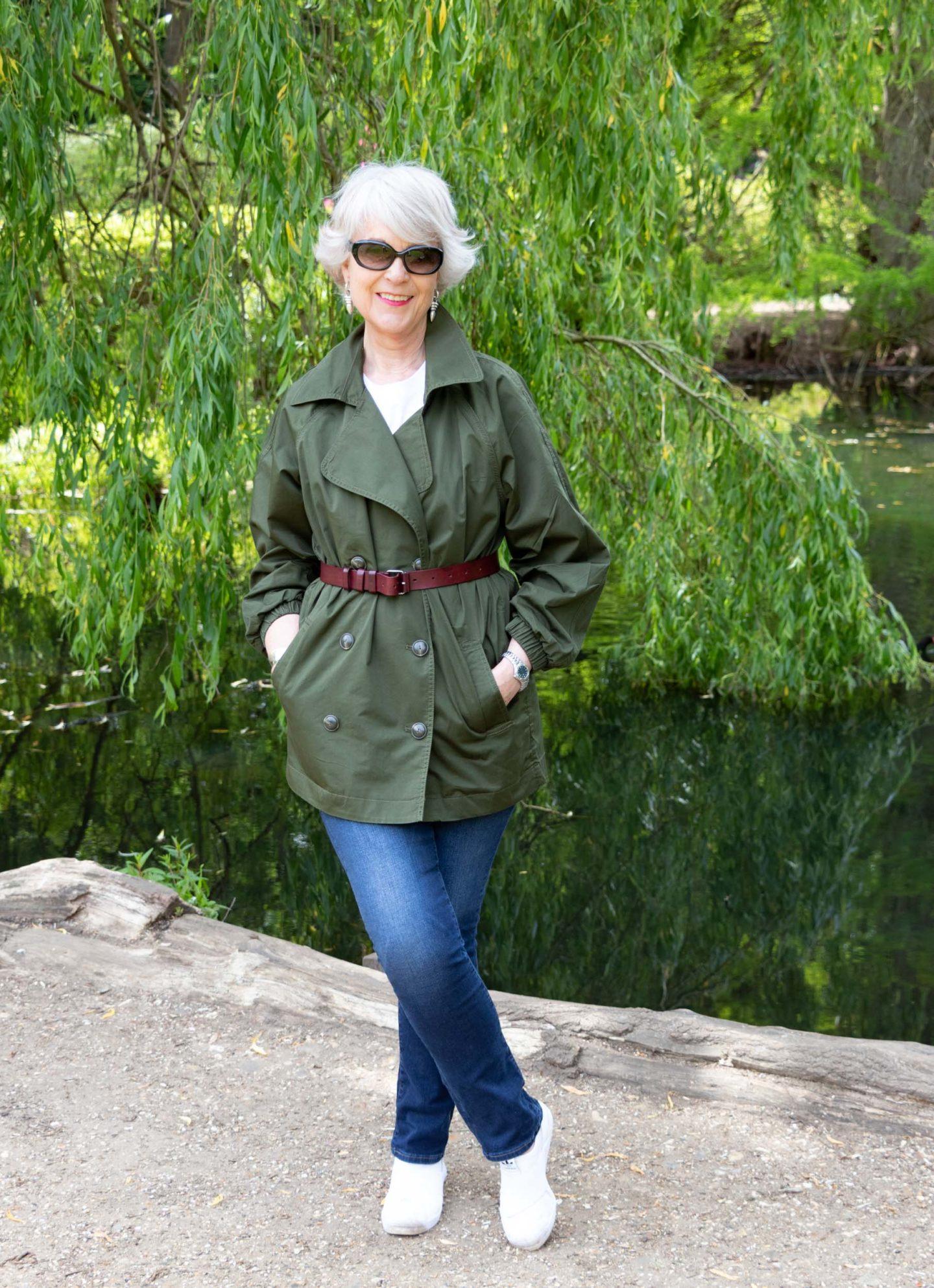 womens khaki jacket