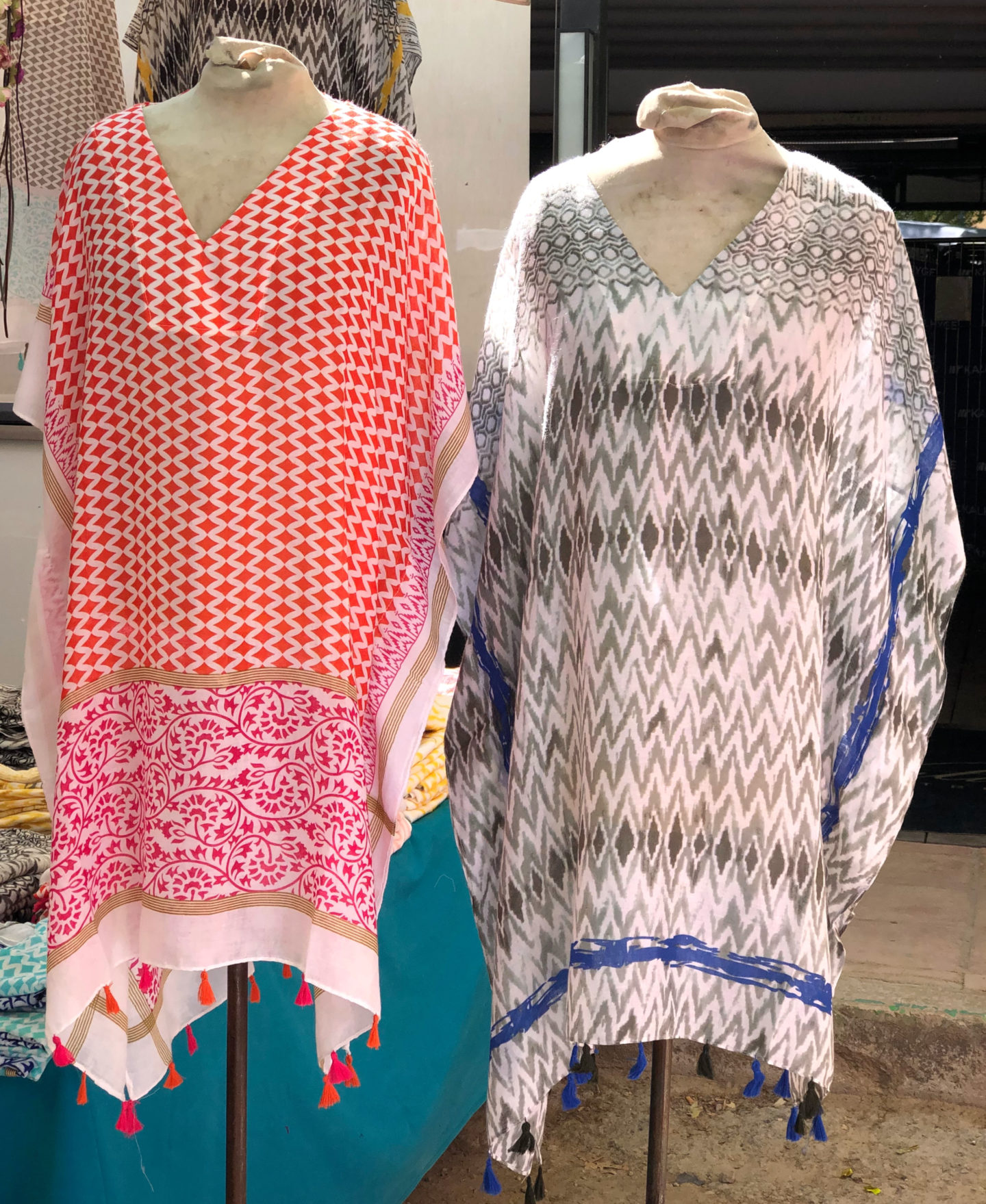 short patterned kaftans