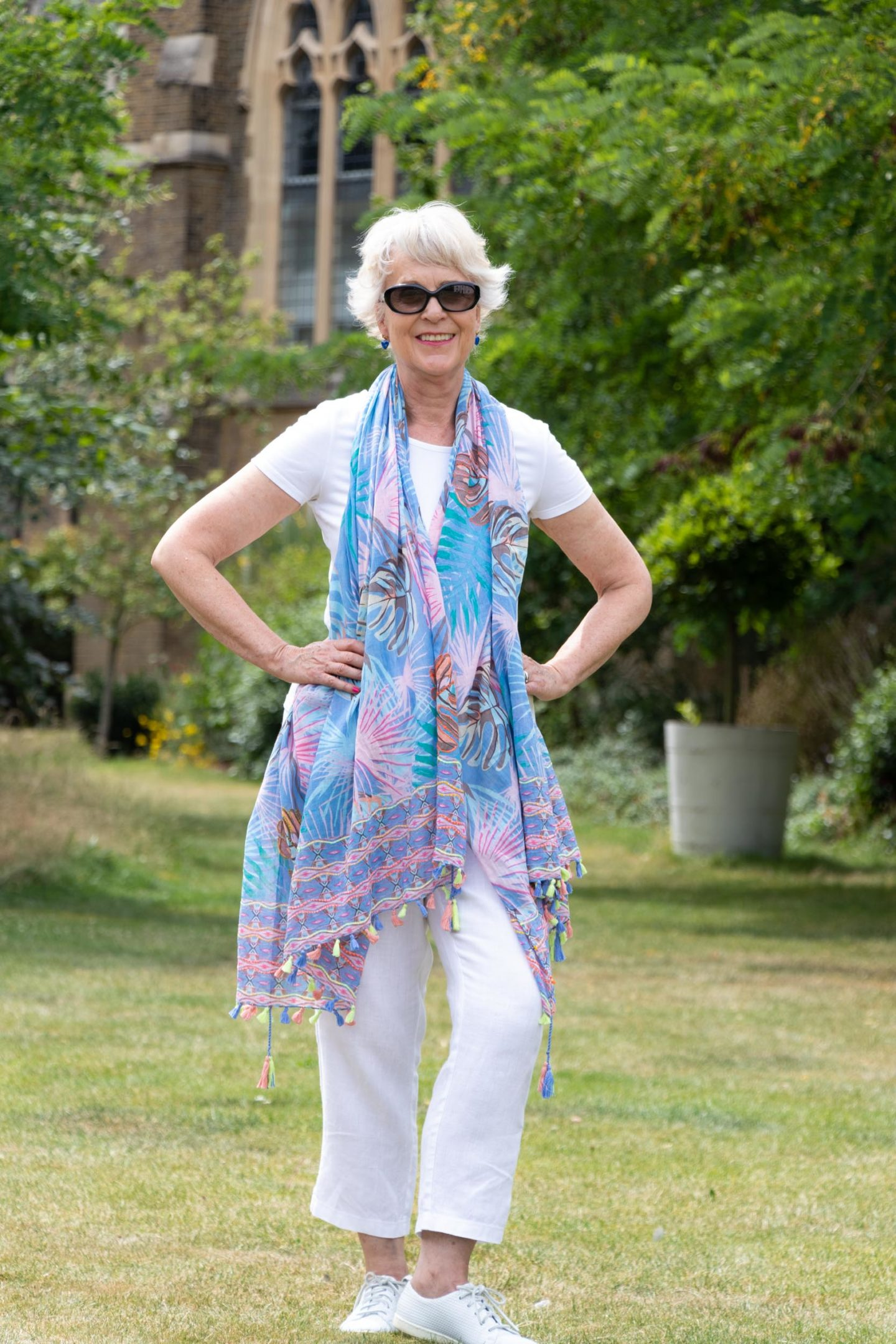 Exotic print scarf/pareo