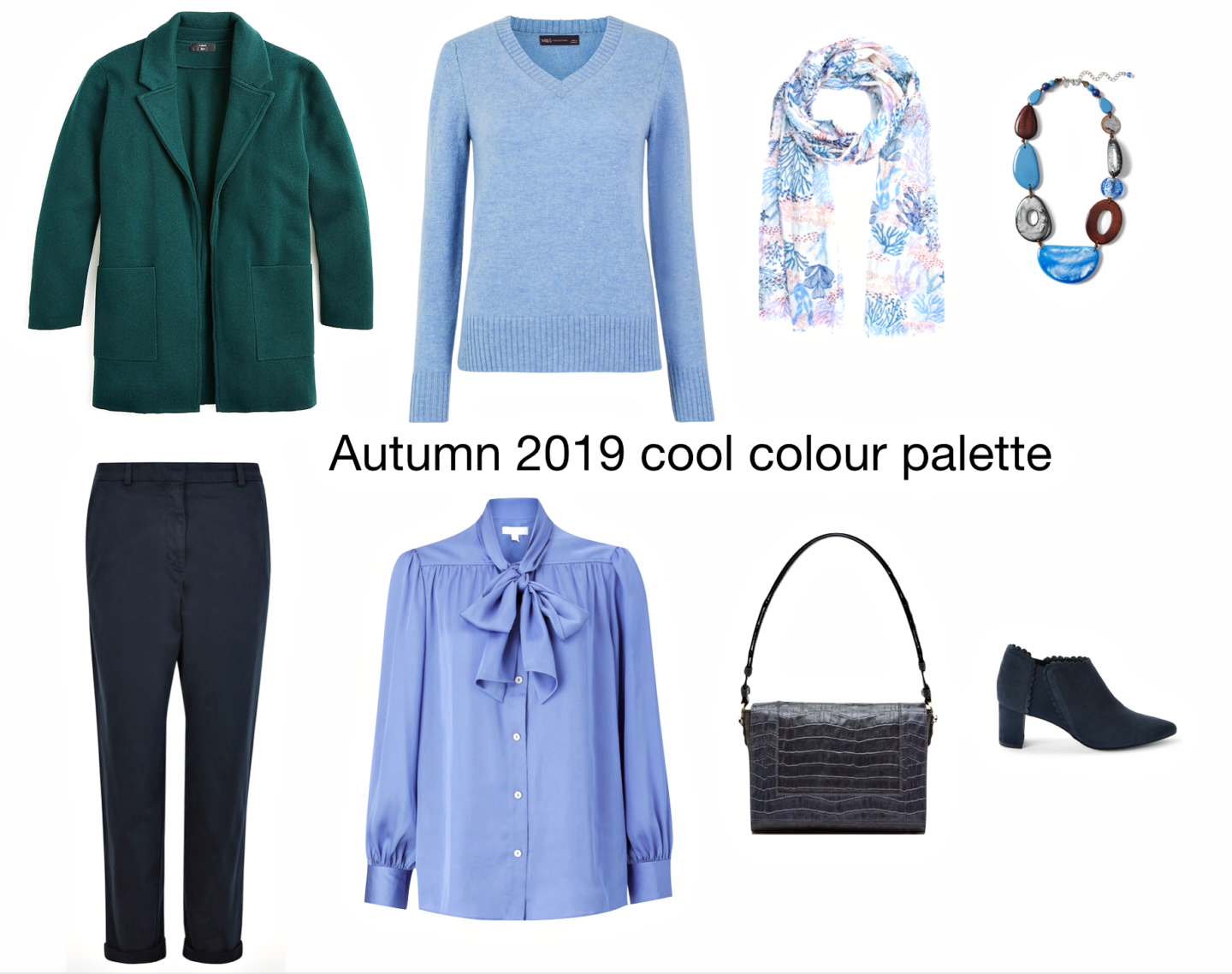 Autumn 2019 cool colour palette