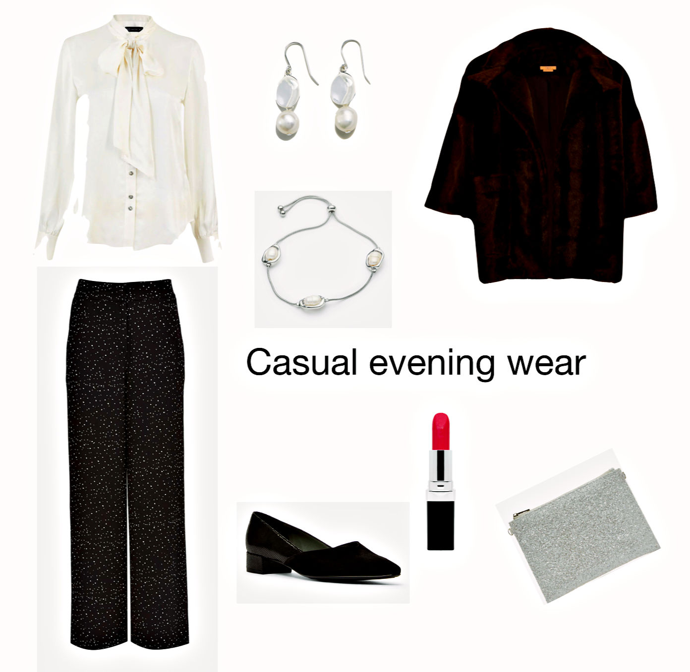 Casual evening wear with trousers