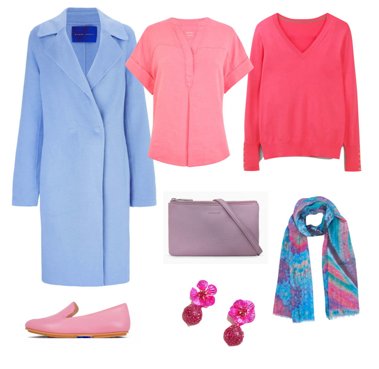 Spring colour combinations Cool tones