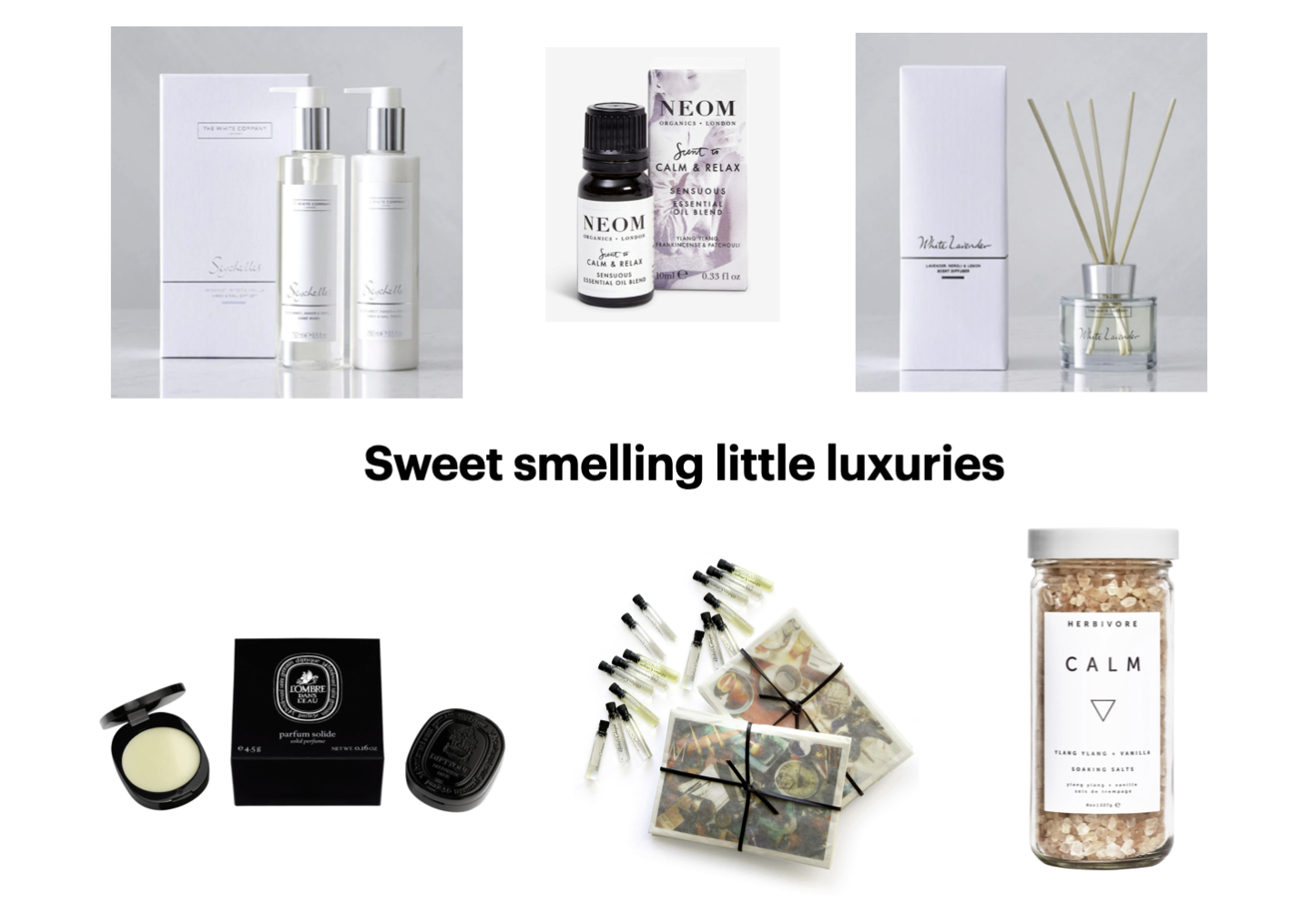 Sweet smelling little luxuries