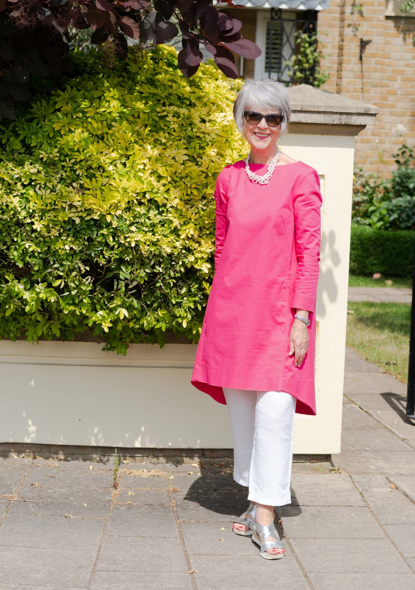 Tunic dress and trousers