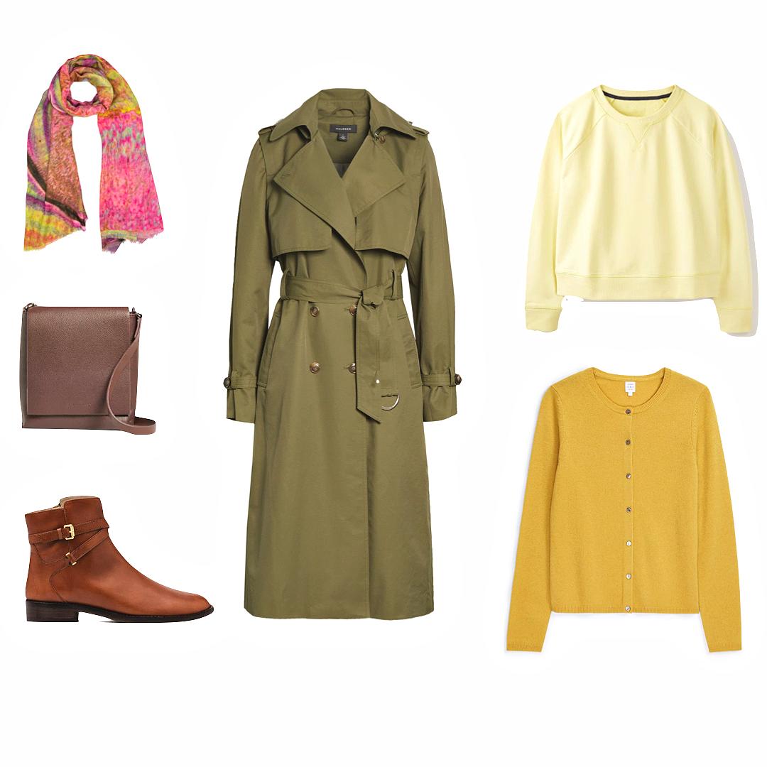 Trench coats warm colour palette