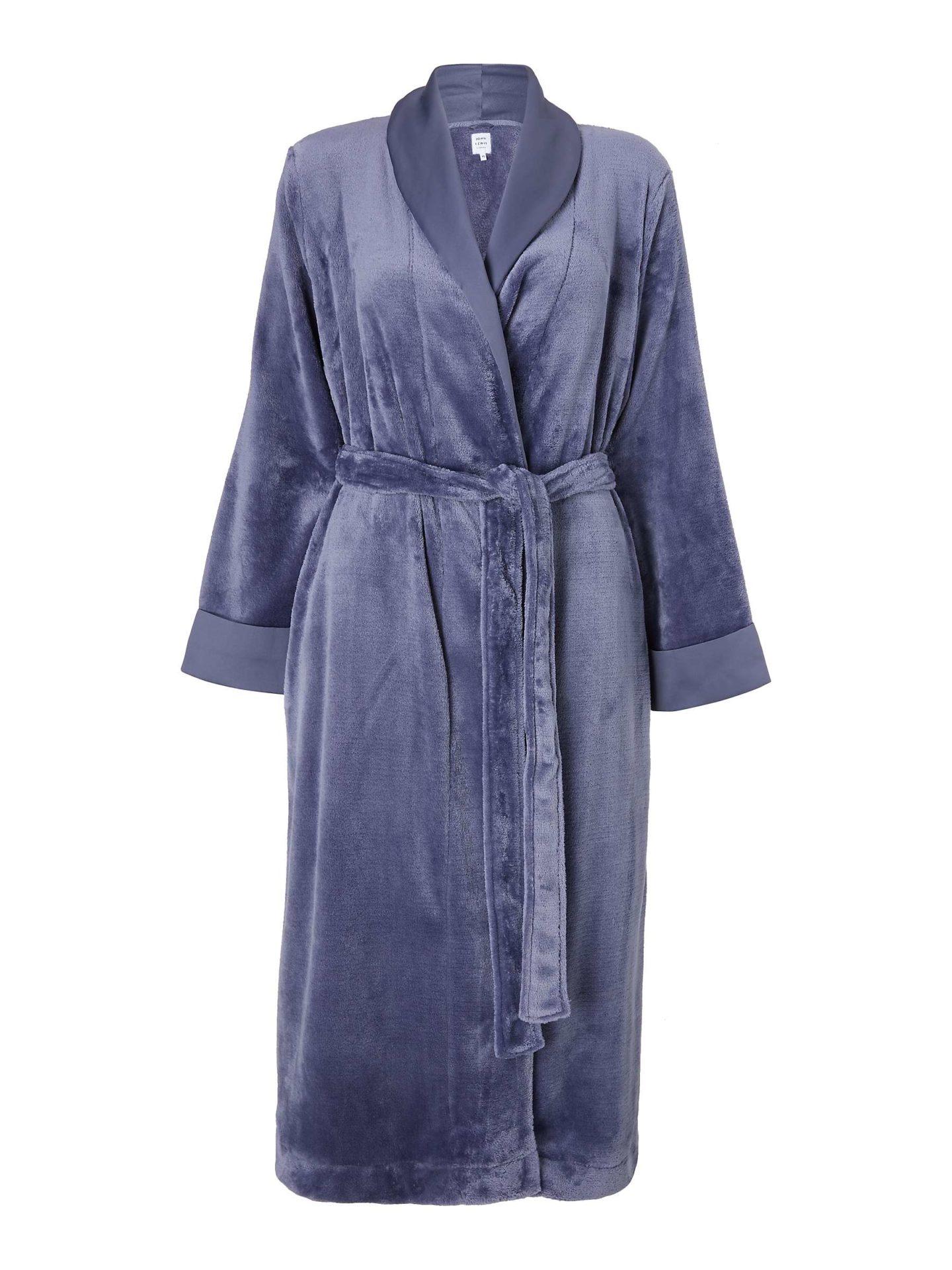 Navy blue bath robe