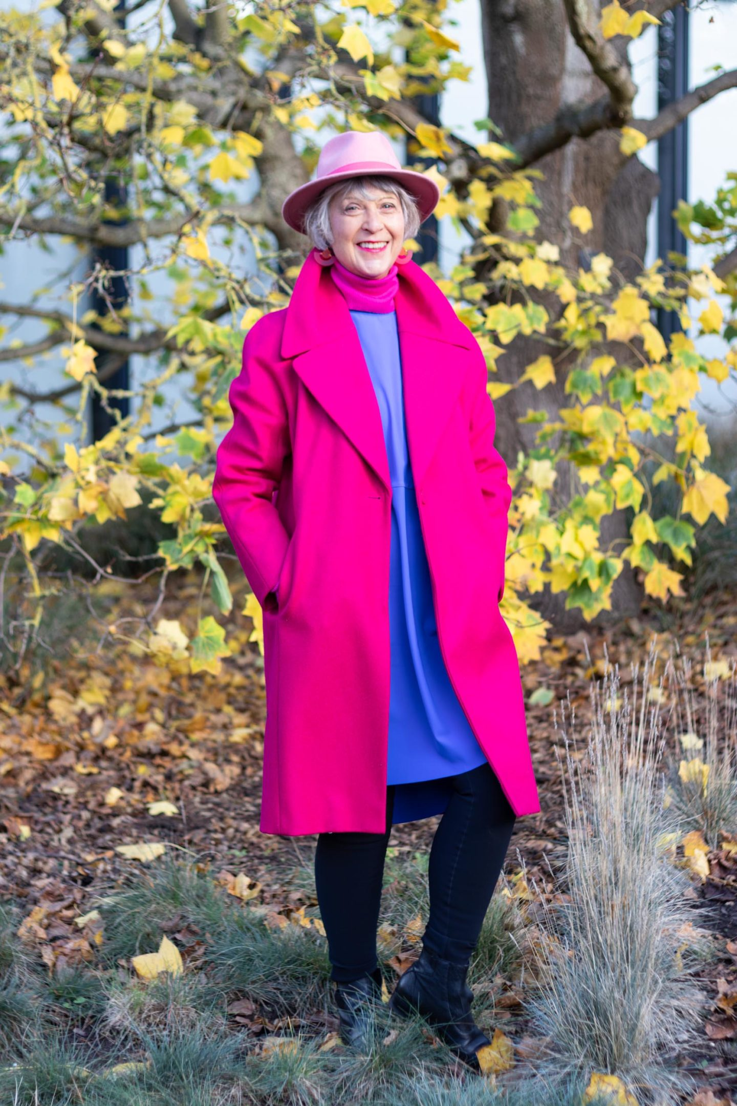 How to wear bright colours during the winter months