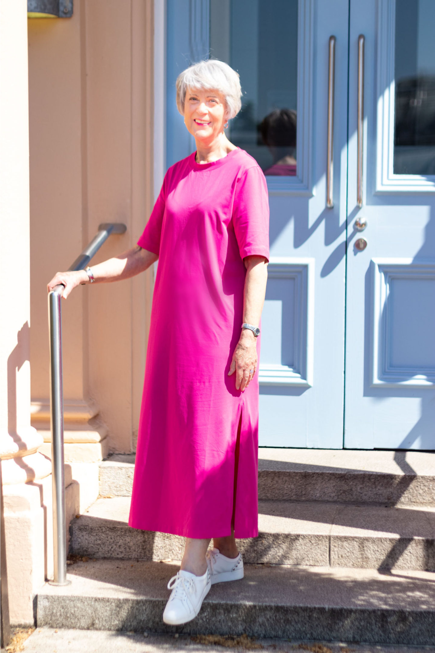 How to style a simple cotton maxi dress
