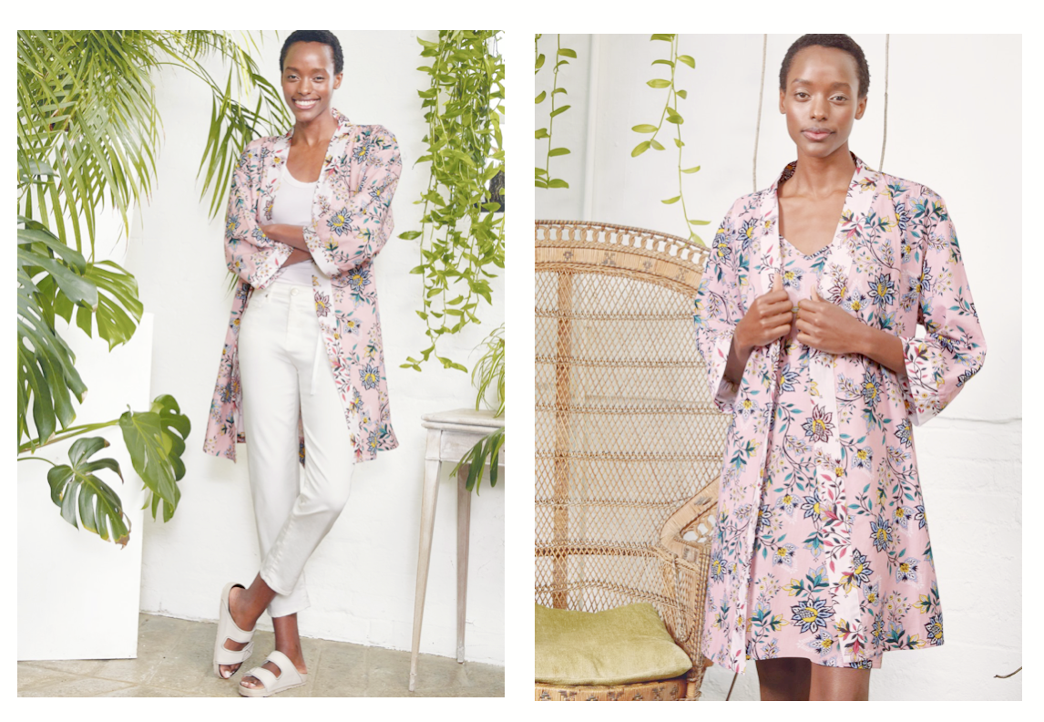 How to wear a cotton robe two ways