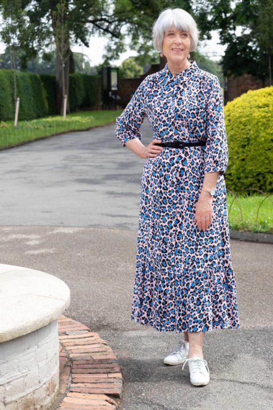 Maxi leopard print dress