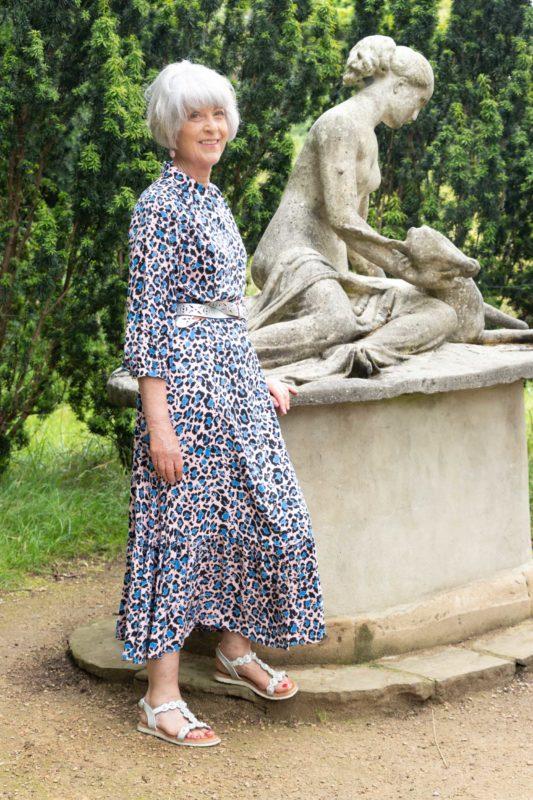 Pink leopard print dress