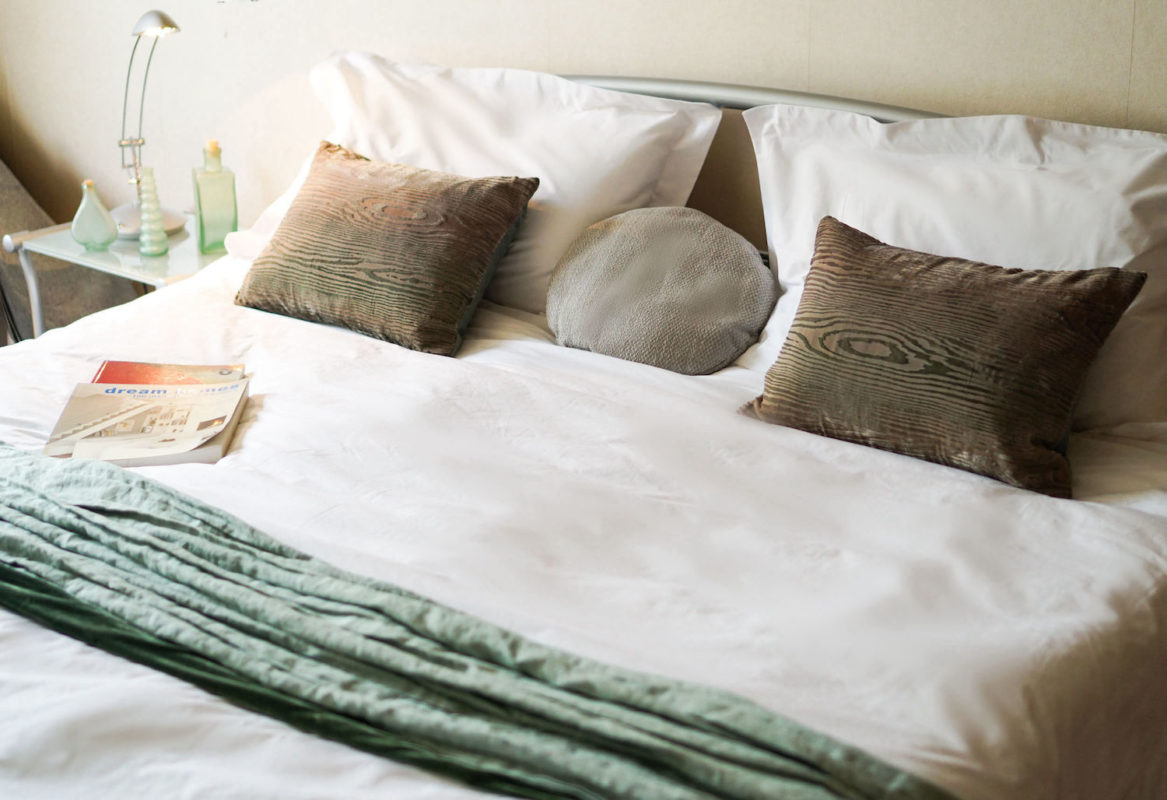 A good nights sleep with cool bedding