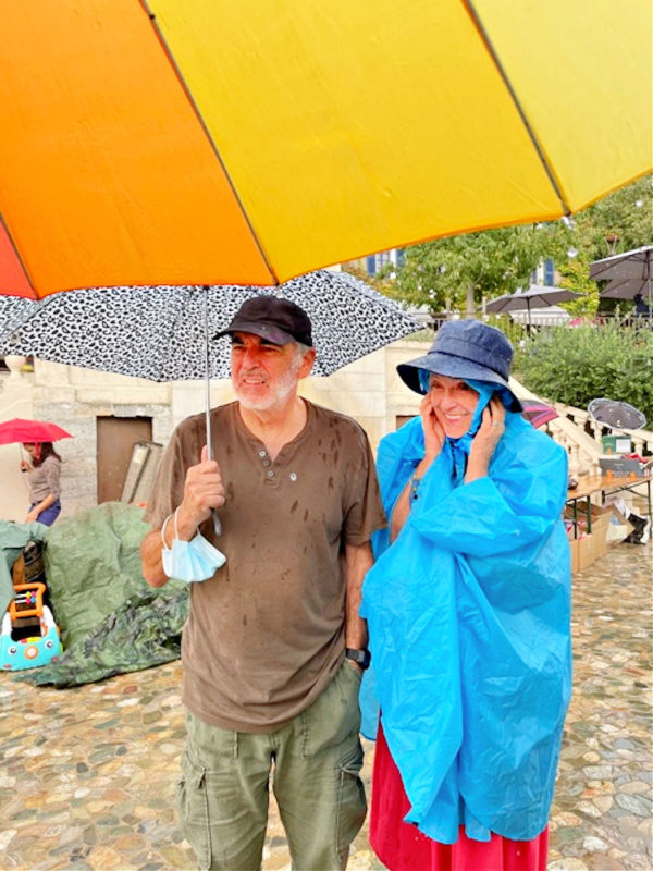 Rain stopped play at the Brocante