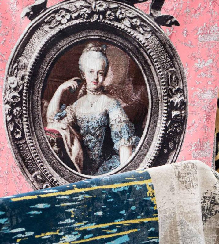 Printed rugs in St.Tropez market