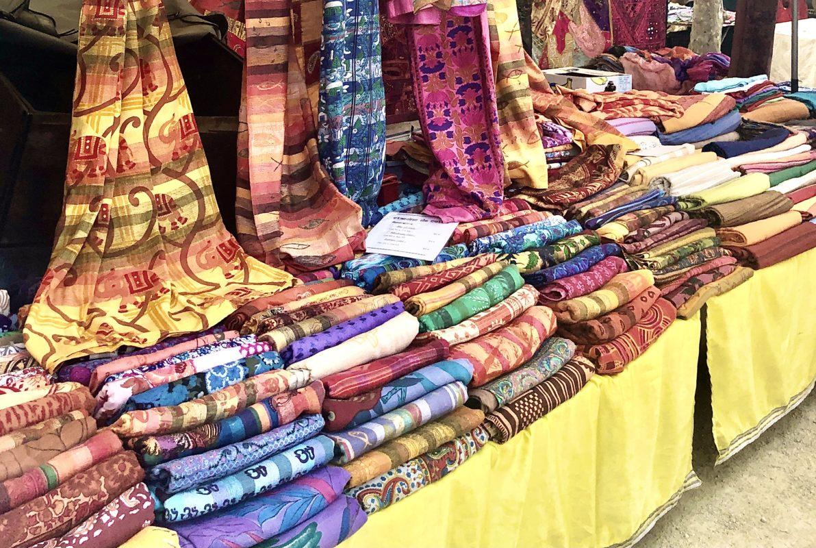 Scarves in St.Tropez market