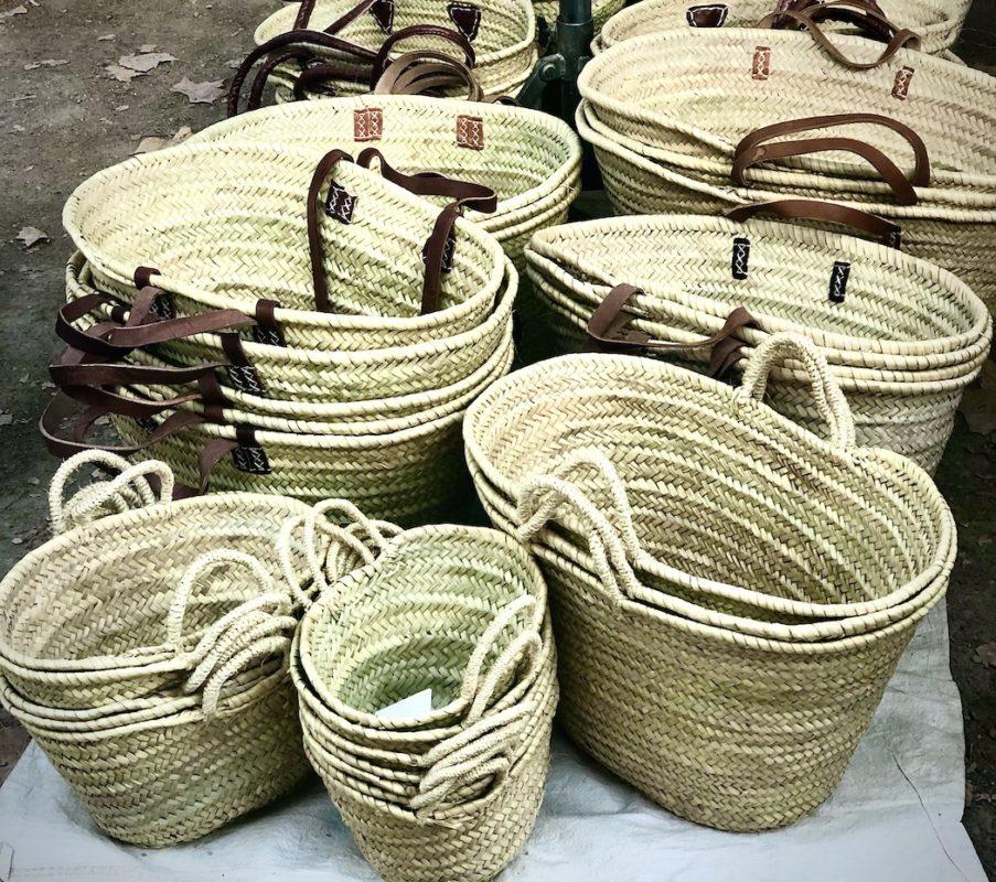 French wicker shopping baskets
